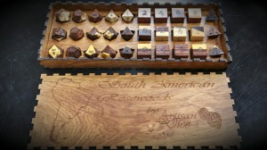 south american rosewood dice box