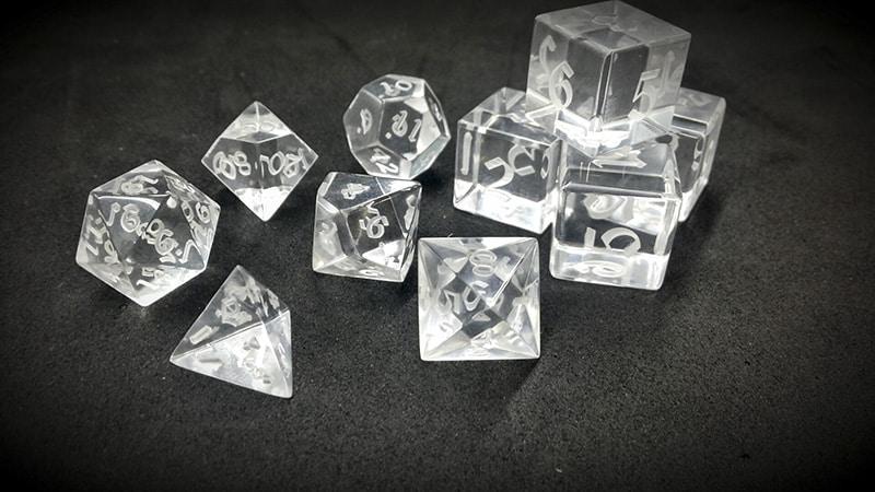 Optically Clear Acrylic Crystal Artisan Dice
