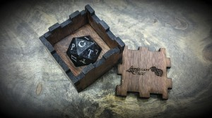 ancient stone d20 walnut box