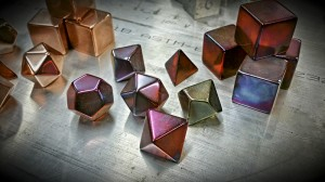 Copper Dragon's Breath Polyhedral Set