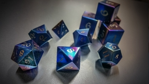 Titanium Dragon's Breath Polyhedral Set