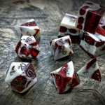alligator jawbone dice in red snapper