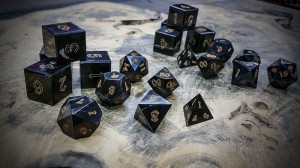 water buffalo horn polyhedral dice