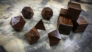 Kanji Polyhedral Set in Bolivian Rosewoo