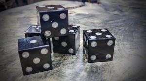 african blackwood and mother of pearl dice