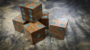african mahogany and turquoise