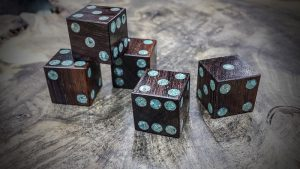 Tinswin with Turquoise Inlay