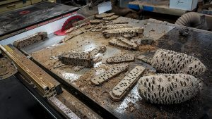 banksia seed pods on table saw