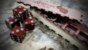 5d6 bloodwood magnetic dice