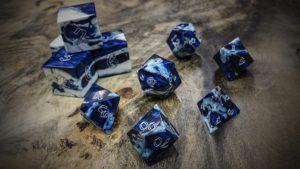 Gator Jawbone Bayou Blue Polyhedral Dice