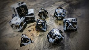 Gator Jawbone Black Magic Polyhedral Dice
