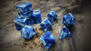 Gator Jawbone Blue Orchid Polyhedral Dice