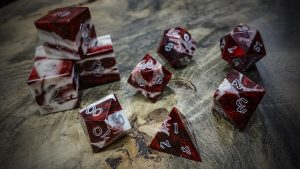 Gator Jawbone Red Snapper Polyhedral Dice