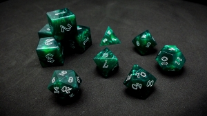 Second Wind Polyhedral Dice - Chrysocolla