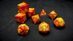 Second Wind Polyhedral Dice - Helios