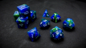 Second Wind Polyhedral Dice - Tellus