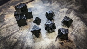 Ancient Bog Oak Polyhderal Dice