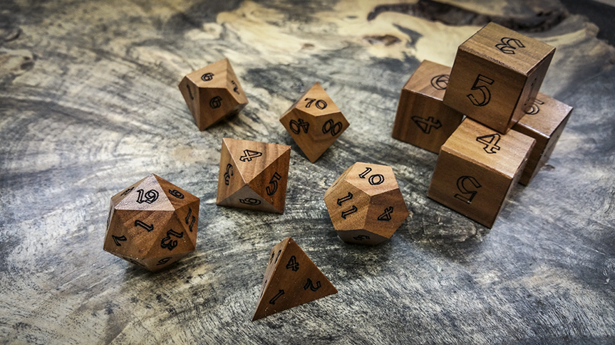 Apple Wood Artisan Dice