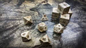 Ash Polyhedral Dice