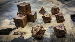 Black Mesquite Polyhedral Dice