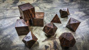 Brown Ebony Polyhedral Dice