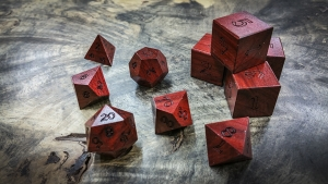 Red Heart (Chakte Kok) Polyhedral DIce