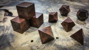 Claro Walnut Polyhedral Dice