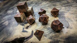 Honduran Rosewood Polyhedral Dice Tone 2