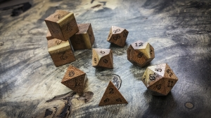Honey Mesquite Polyhedral Dice
