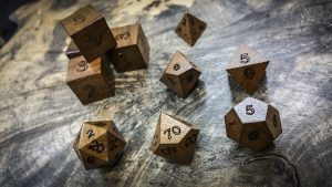 Imbuia Polyhedral Dice