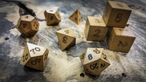 Ivorywood Polyhedral Dice