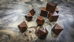 Leopard Wood Polyhedral Dice