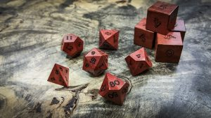 Pink Ivory Polyhedral Dice