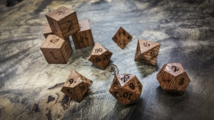 Red Oak Polyhedral Dice