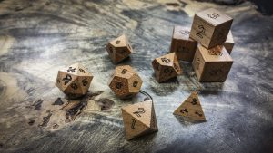 Spanish Cedar Polyhedral Dice