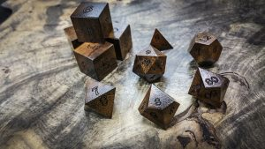 Texas Ebony Polyhedral Dice