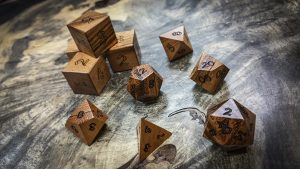 Tigerwood (Ganco Alves) Polyhedral Dice