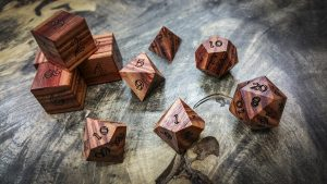 Tulipwood Polyhedral Dice (Light)