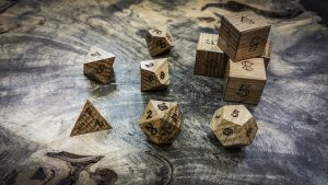 White Oak Polyhedral Dice