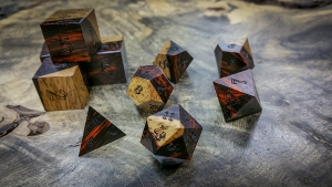 Cocobolo with Sap Wood Polyhedral Set