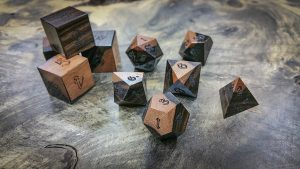 Macassar Ebony with Sap Wood Polyhedral Set