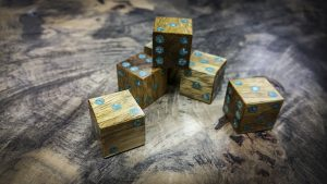 Movingui 6d6 with Turquoise Inlay