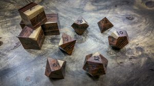 Pau Ferra (Bolivian Rosewood) with Sap Wood Polyhedral Set