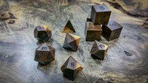 Texas Ebony with Sap Wood Polyhedral Set