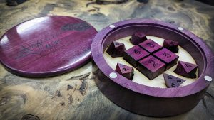 MK X Box and Purple Heart Polyhedrals