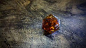 Amber d20 Backlit