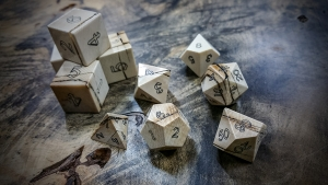 Mammoth Ivory Polyhedral Dice Set