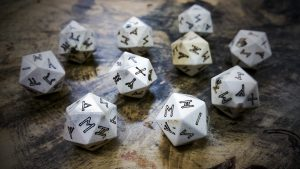 White Tail Deer Antler Runic d20s