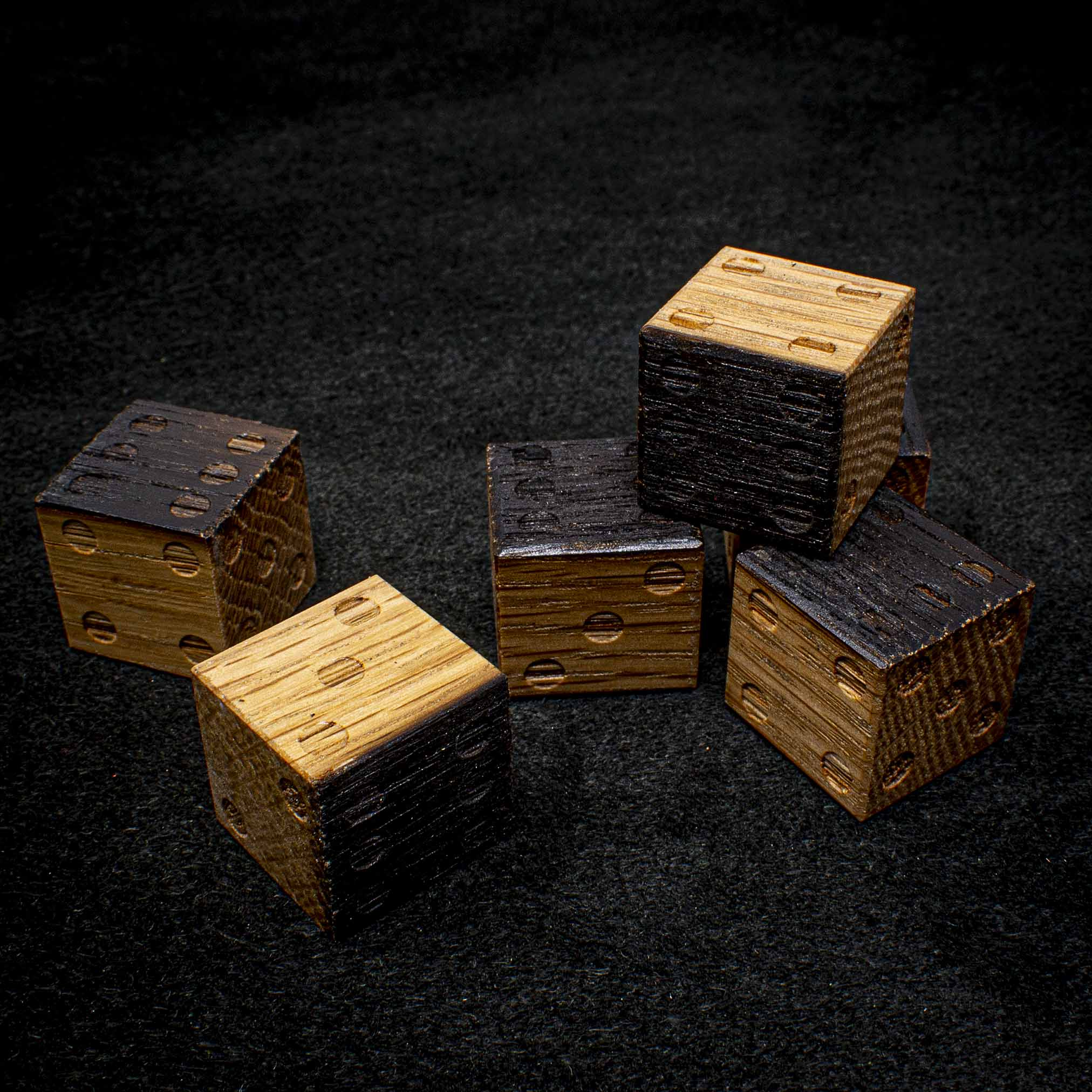 Jack Daniels Oak 6d6 Dice Set