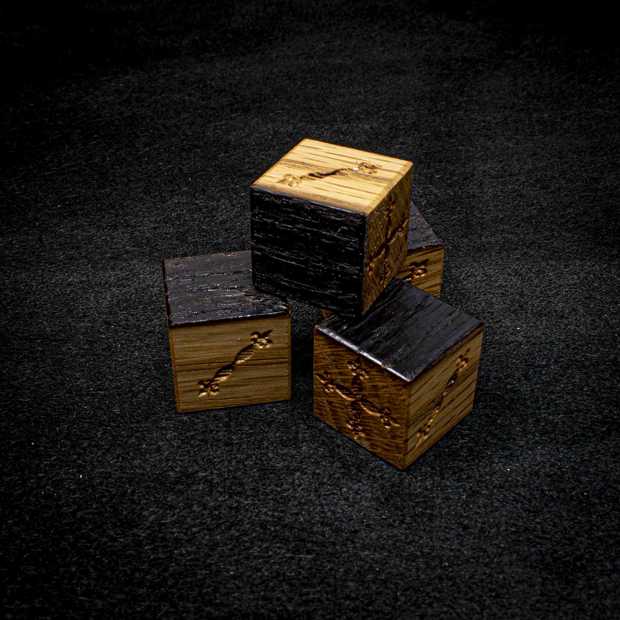 Jack Daniels Oak Fudge Dice Set